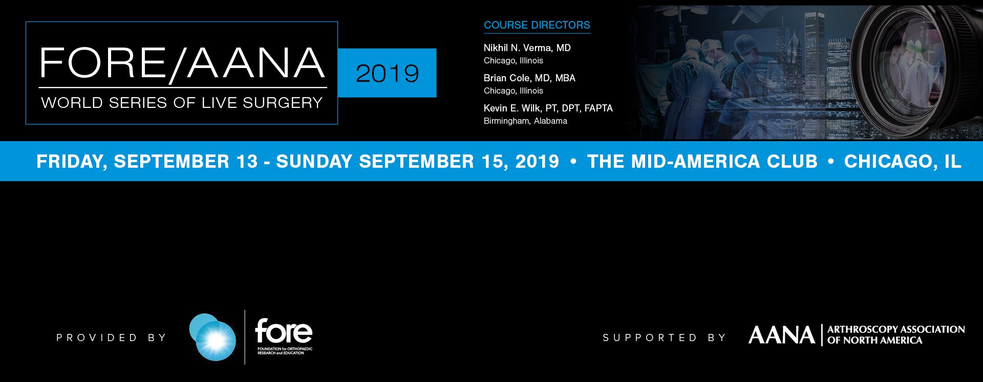 AANA | Arthroscopy Association of North America